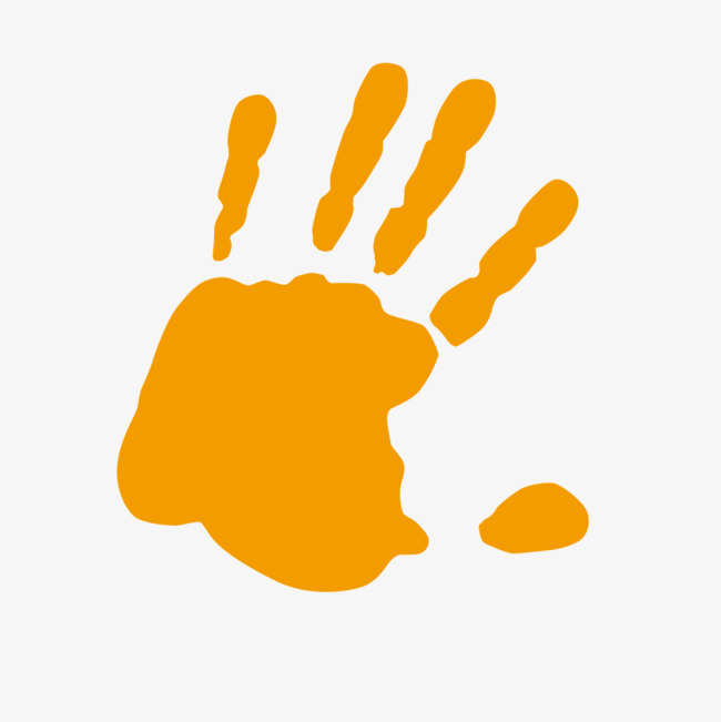 Orange handprint clipart png stock Download we ll see you next week clipart Watercolor painting ... png stock