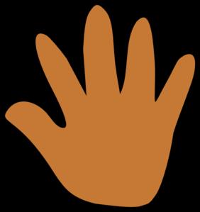 Orange handprint clipart clip art freeuse download Orange Handprint Cliparts - Cliparts Zone clip art freeuse download