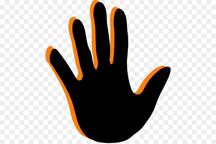 Orange handprint clipart picture free Background Orange png download - 522*596 - Free Transparent Hand png ... picture free