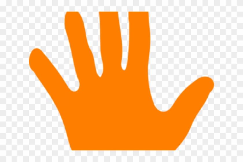 Orange handprint clipart picture freeuse download Handprint Clipart Colored - Orange Hand Clipart, HD Png Download ... picture freeuse download