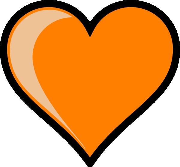 Orange heart clipart jpg Orange Heart Clip Art at Clker.com - vector clip art online, royalty ... jpg