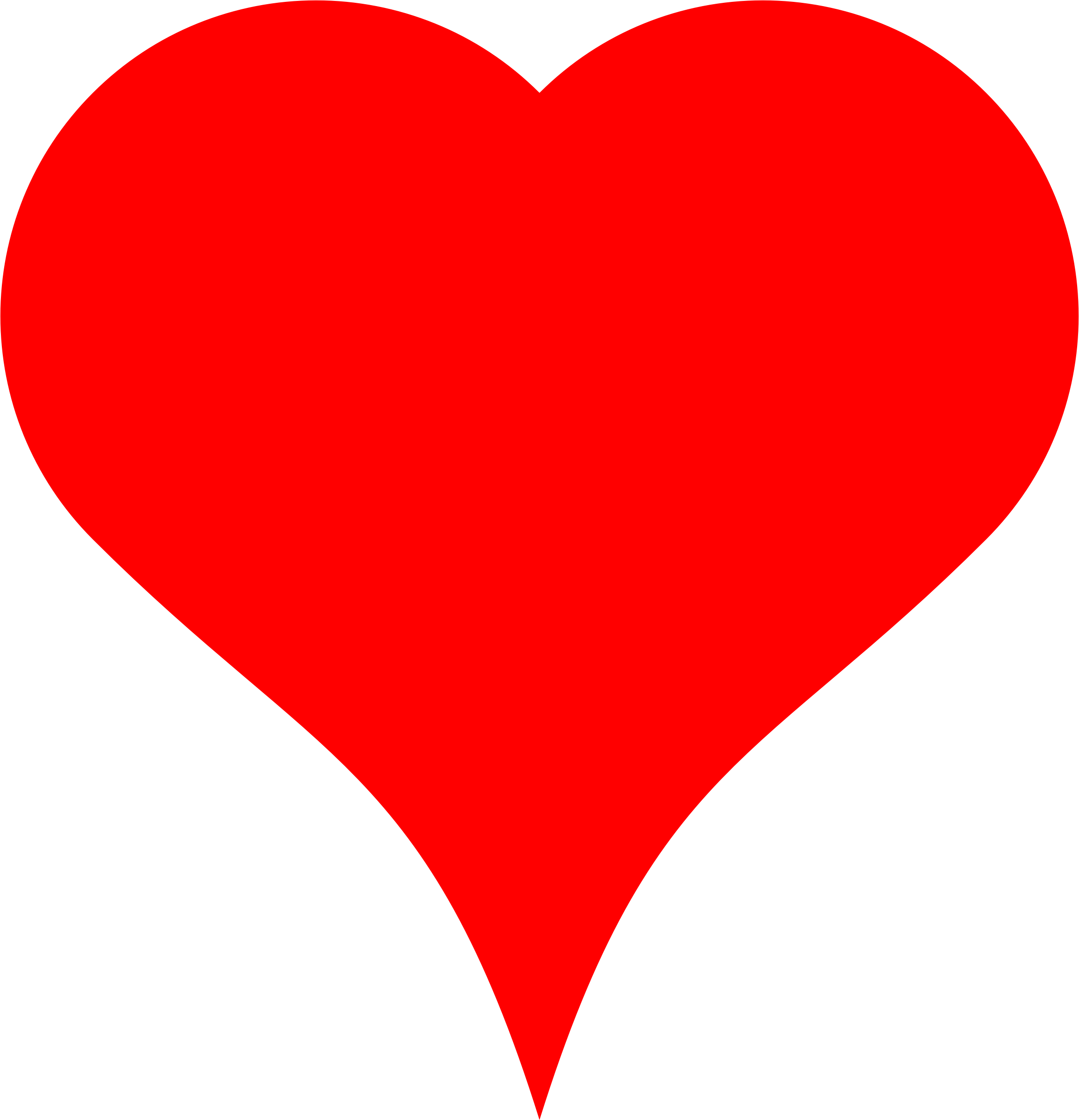Orange heart clipart picture free stock Clipart - Heart made of semicircle and Bezier picture free stock