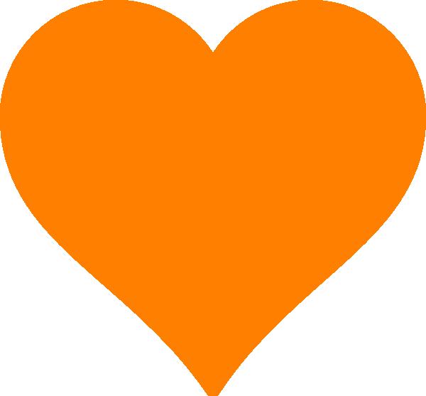 Orange heart clipart clip Orange Heart Clip Art at Clker.com - vector clip art online, royalty ... clip