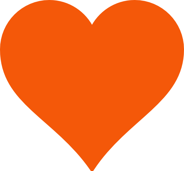 Orange heart clipart vector black and white stock Simple Orange Heart Clip Art at Clker.com - vector clip art online ... vector black and white stock