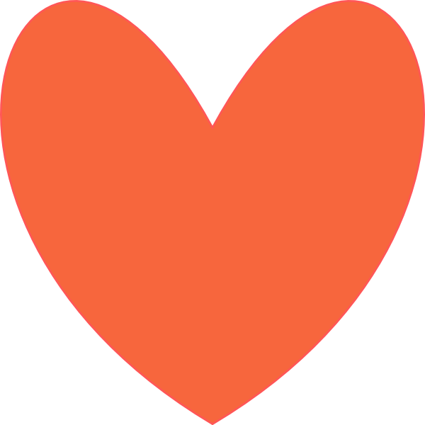 Orange heart clipart image freeuse Orange Coral Heart Clip Art at Clker.com - vector clip art online ... image freeuse