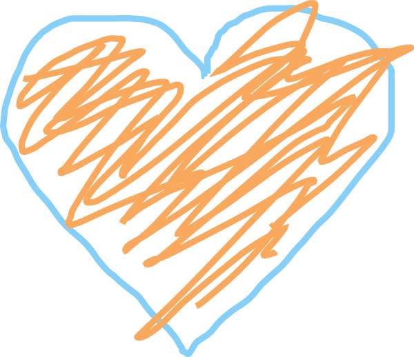 Orange heart clipart vector free library Blue And Orange Heart Clip Art at Clker.com - vector clip art online ... vector free library