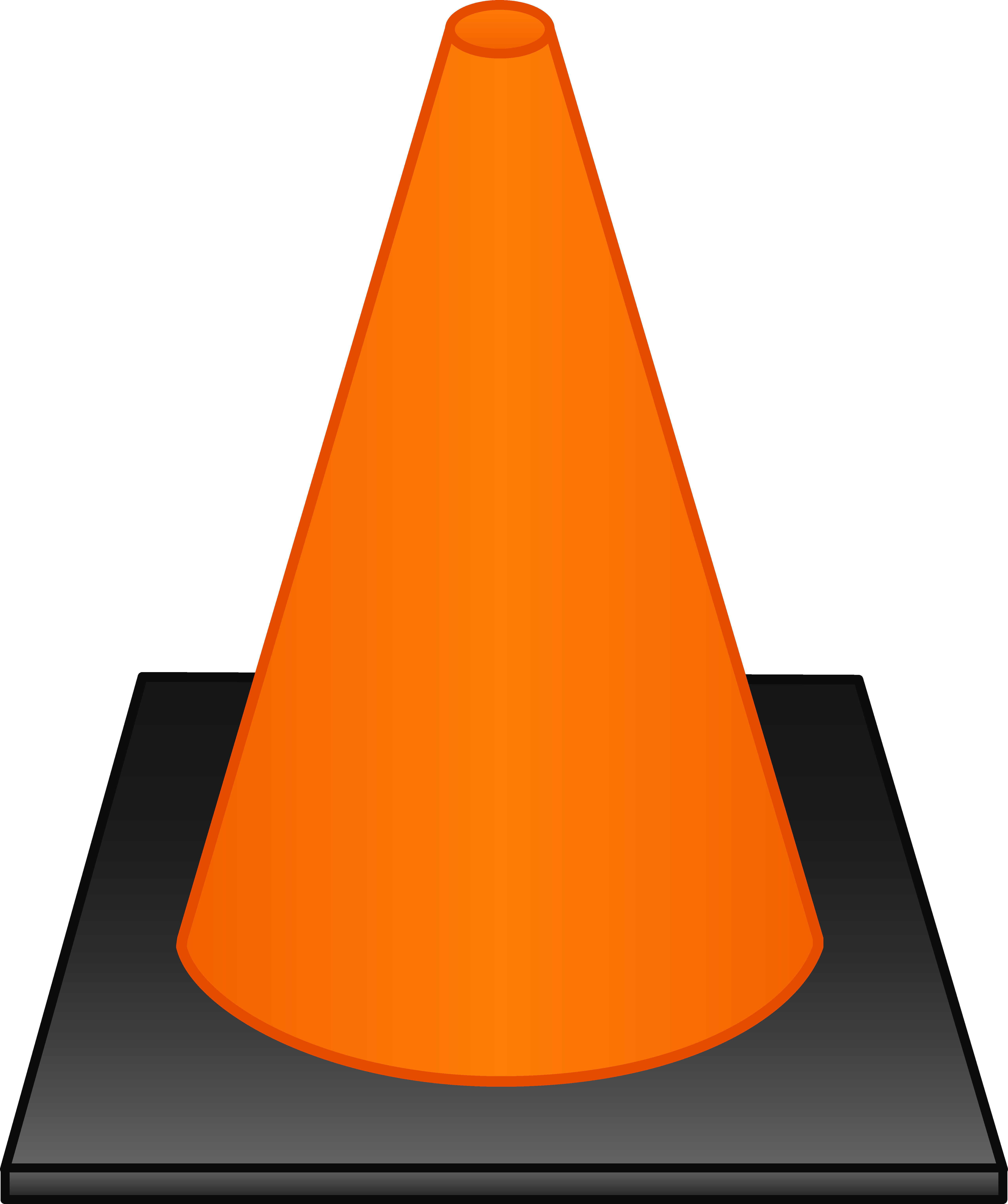 Orange house clipart png freeuse Orange Traffic Cone - Free Clip Art png freeuse