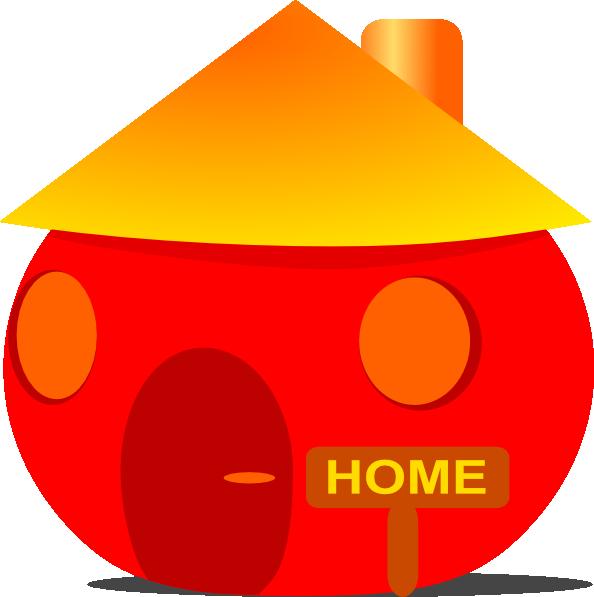 Orange house clipart clipart transparent download Home House Clip Art at Clker.com - vector clip art online, royalty ... clipart transparent download