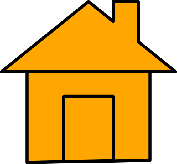 Orange house clipart picture black and white library Orange House Icon Clip Art at Clker.com - vector clip art online ... picture black and white library