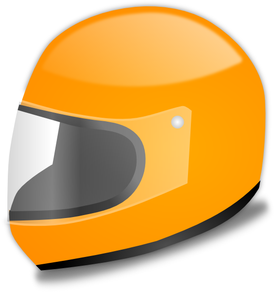 Orange race car clipart png library Yellow Racing Helmet Clip Art at Clker.com - vector clip art online ... png library