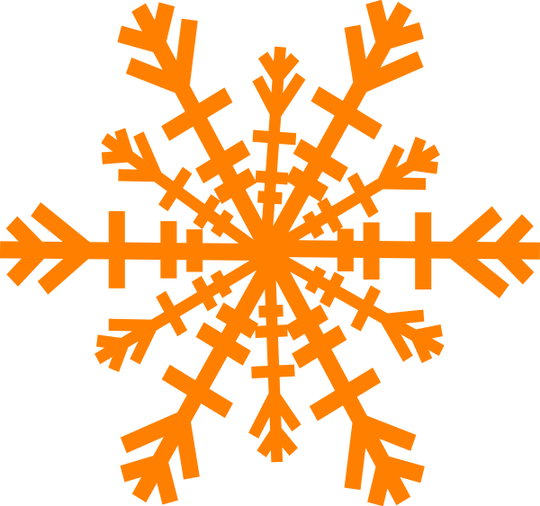Orange snowflake clipart royalty free library Snowflake Clip Art at Clker.com - vector clip art online, royalty ... royalty free library