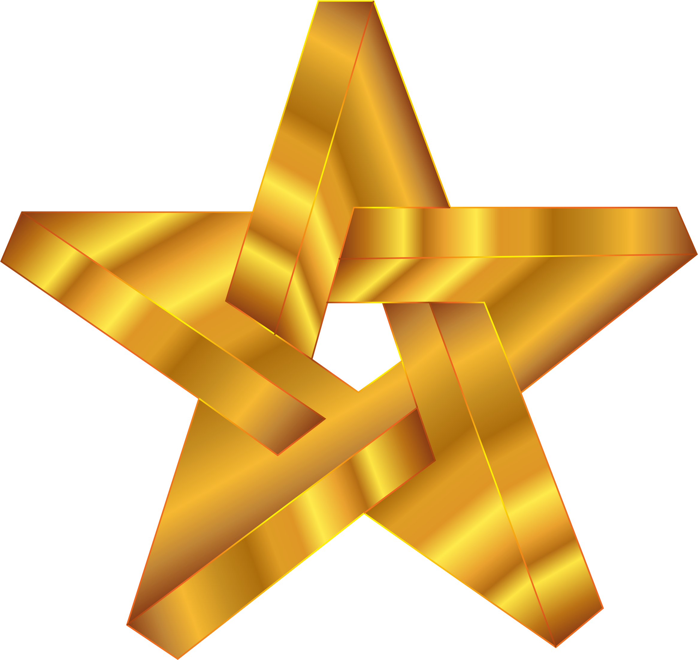 Orange star clipart jpg library Clipart - Impossible Star Gold jpg library
