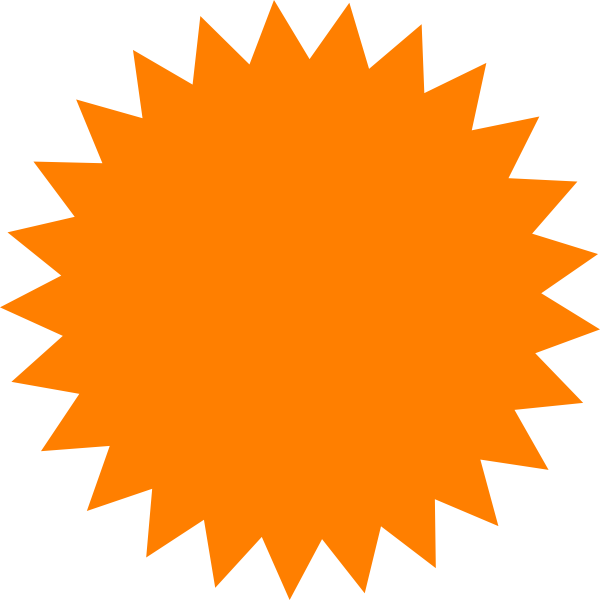 Western sun clipart svg library download Red Sun Star Clip Art at Clker.com - vector clip art online, royalty ... svg library download