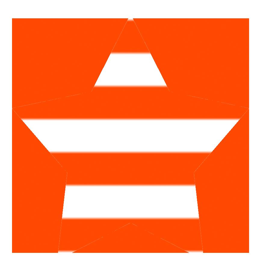 Orange star clipart vector black and white download Star Clipart vector black and white download