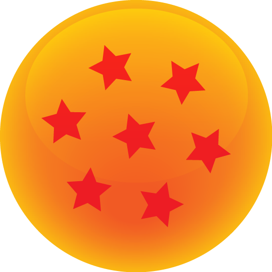 Orange star vector clipart jpg free download Download Dragonball High Quality PNG and Vector Set | Maca is Rambling jpg free download