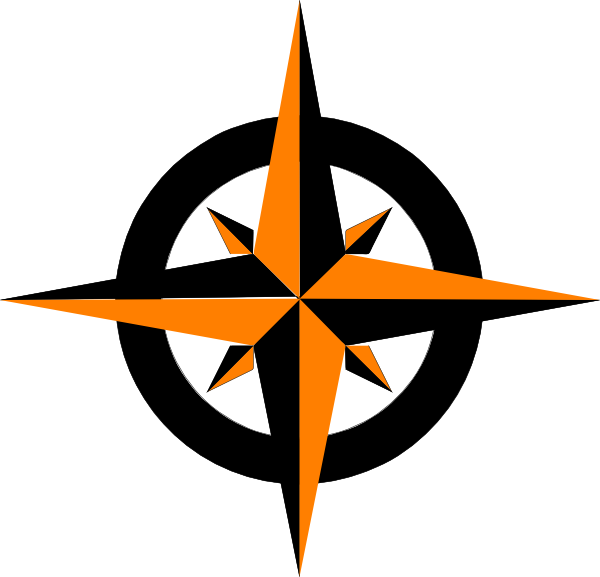 Orange star vector clipart royalty free library Compass Rose Variation Clip Art at Clker.com - vector clip art ... royalty free library