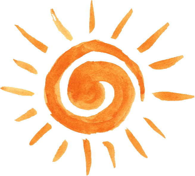 Orange sun watercolor clipart clipart library download 12 Watercolor Sun (PNG Transparent) Vol. 2 | OnlyGFX.com clipart library download