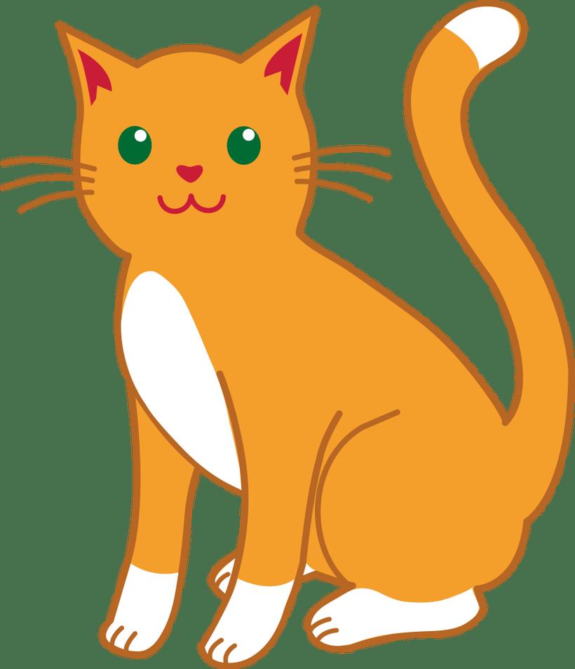 Orange tabby cat clipart vector library download Cat Clipart Free | Bedwalls.co vector library download
