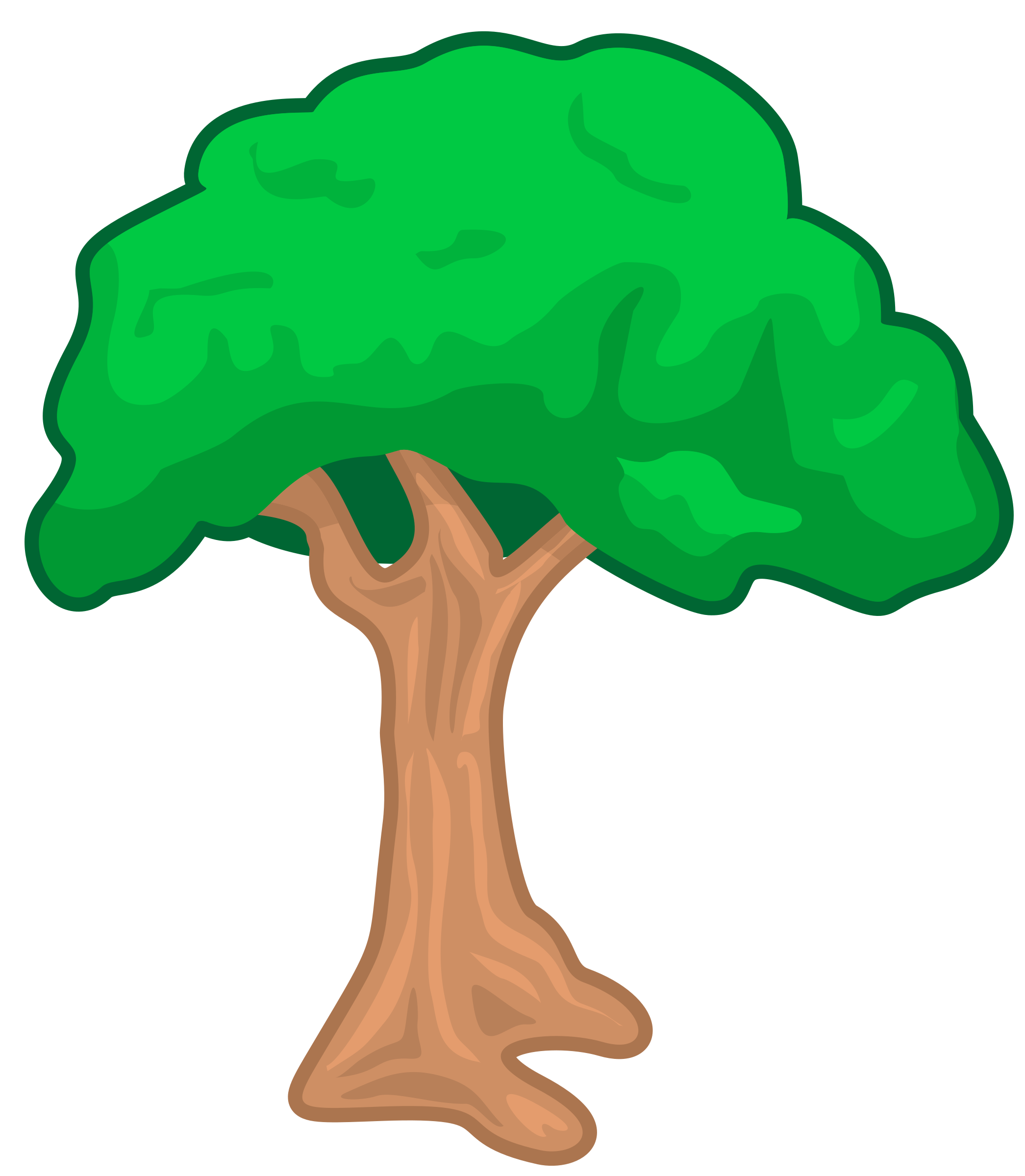 Orange tree clipart image Clipart - trace tree image