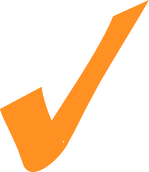 Orangecheckmark clipart png Orange Checkmark Clip Art at Clker.com - vector clip art online ... png