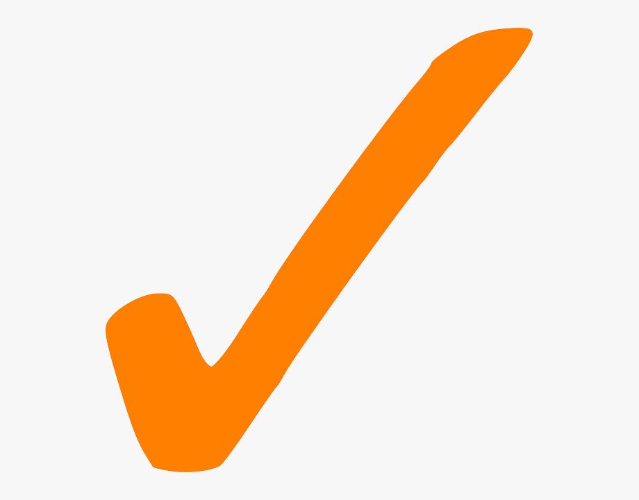 Orangecheckmark clipart banner black and white stock Orange Check Mark Png #242574 - Free Cliparts on ClipartWiki banner black and white stock