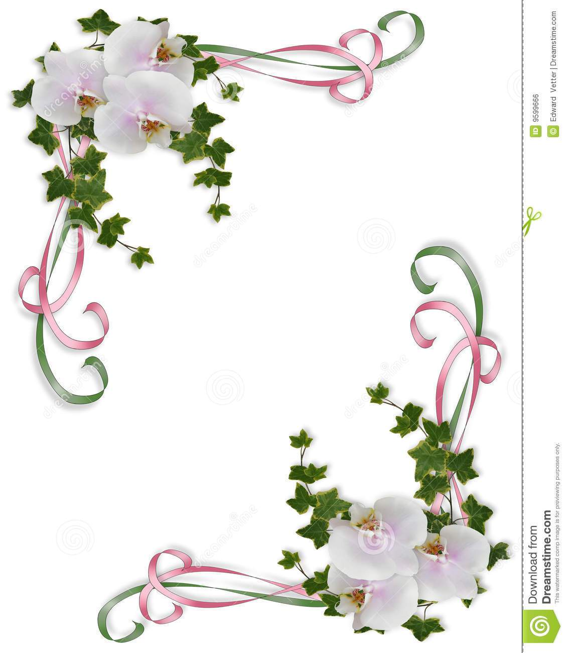 Orchid border clipart banner library library Orchid clipart border 3 » Clipart Portal banner library library