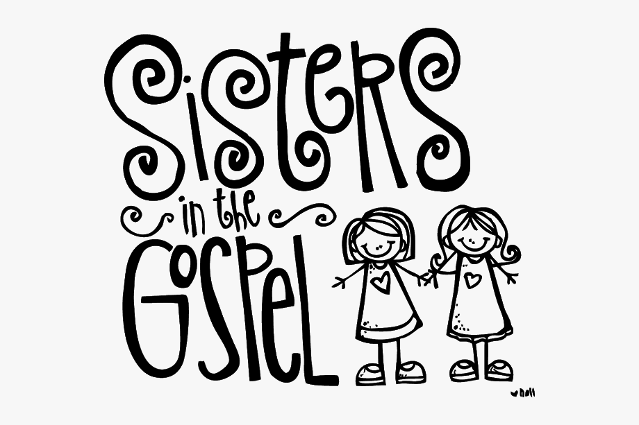 Order of service clipart black and white clip freeuse Missionary Lds Church Service Clipart - Sisters In The Gospel ... clip freeuse
