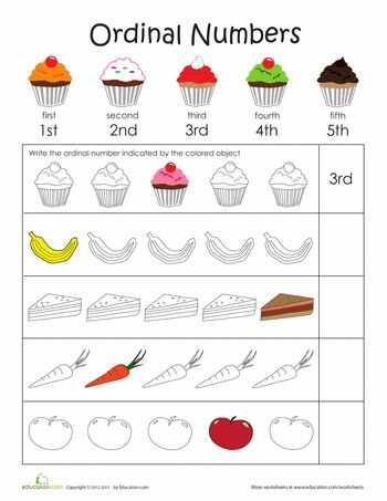 Ordinal numbers 1 10 clipart jpg free stock FREE packet of ordinal numbers 1-10. The child holding the star is ... jpg free stock