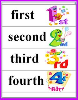 Ordinal numbers 1 10 clipart clip art free stock Ordinal Numbers Freebie | Words, Free printables and Student clip art free stock