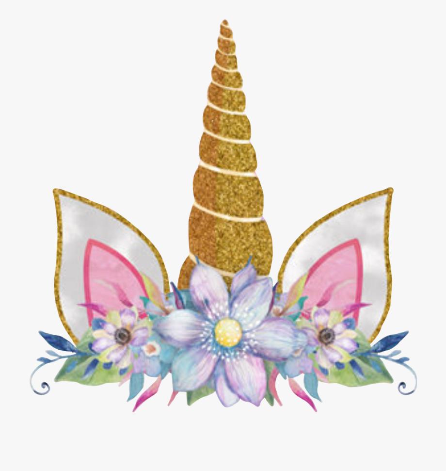 Orejas de unicornio clipart graphic royalty free unicorncrown #unicorn #unicornio #corona #flores #flowers - Unicorn ... graphic royalty free