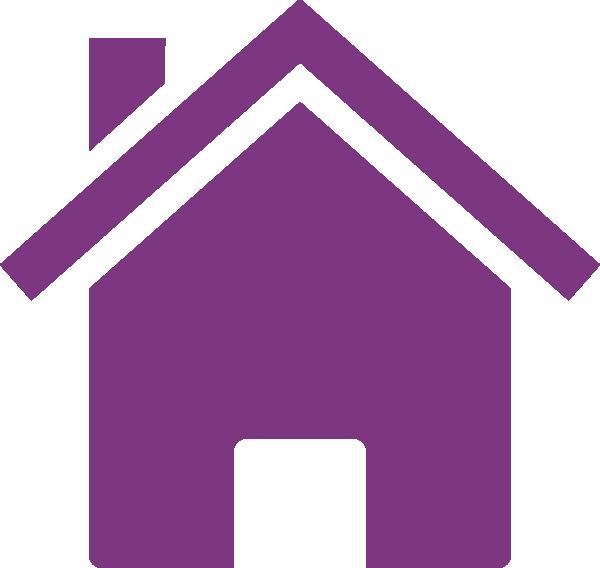 Organized house clipart image transparent download Purple House Clip Art at Clker.com - vector clip art online, royalty ... image transparent download