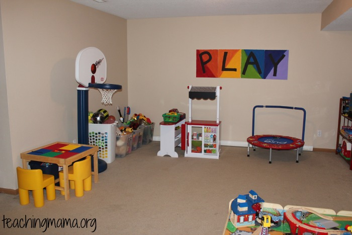 Organized toy room clipart