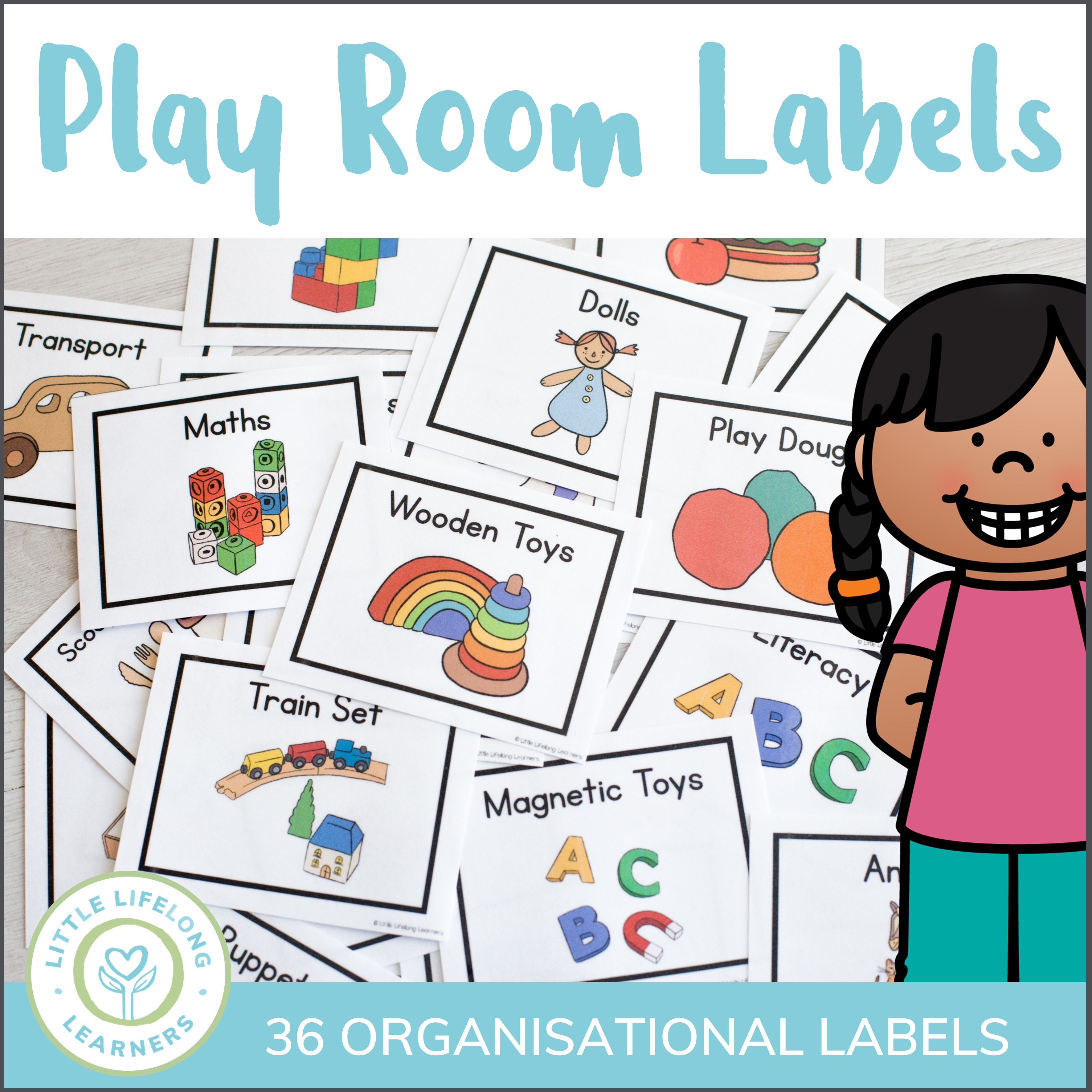 Organized toy room clipart clip download Play Room Labels clip download
