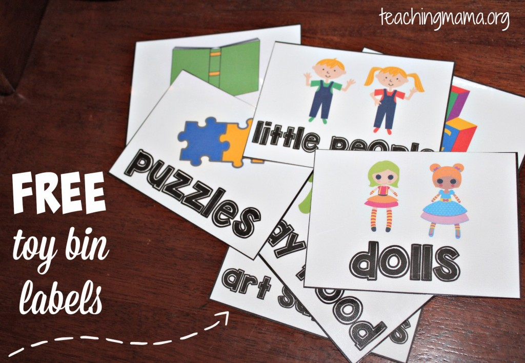 Organized toy room clipart image freeuse stock Toy Room Organization & Free Toy Bin Labels image freeuse stock