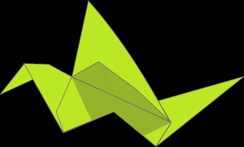 Origimi clipart jpg free stock Free Clipart: Origami flying bird   Iyo jpg free stock