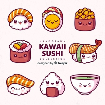 Oriental buffet funny lot of food clipart svg freeuse stock Sushi Vectors, Photos and PSD files | Free Download svg freeuse stock