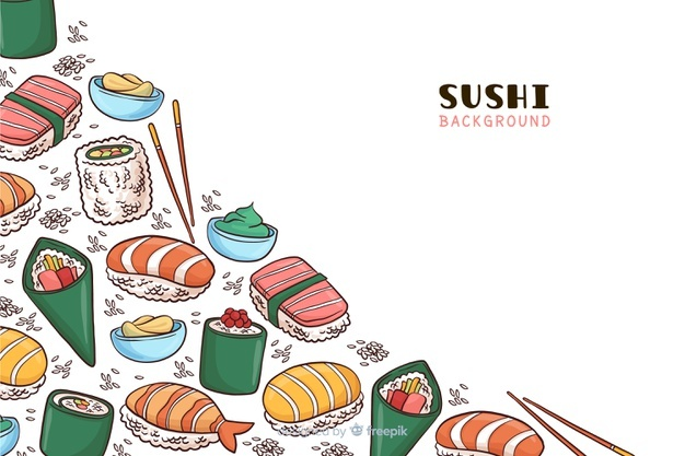 Oriental buffet funny lot of food clipart clip art Sushi Vectors, Photos and PSD files | Free Download clip art