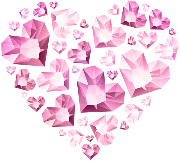Origami heart clipart jpg library Hert of Diamond Hearts Transparent Clip Art | Gallery Yopriceville ... jpg library