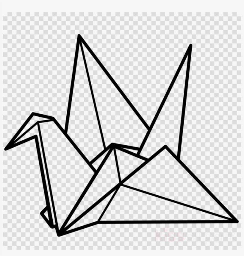 Origimi clipart banner black and white Origami Crane Png Clipart Crane Paper Origami - Paper Crane ... banner black and white