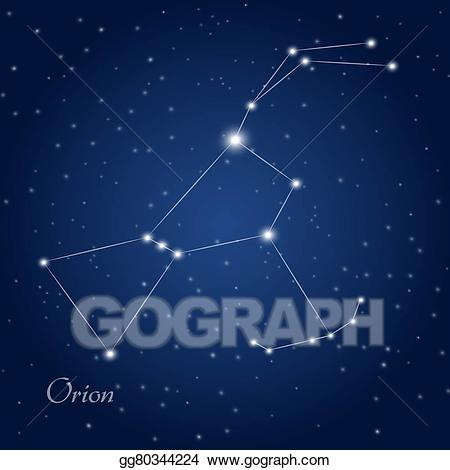 Orion constellation clipart graphic freeuse download Vector Art - Orion constellation . Clipart Drawing ... graphic freeuse download