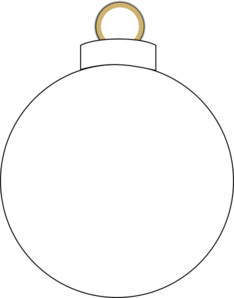 Ornament clipart black and white vector library stock Christmas Ornament Clipart Black And White | Clipart Panda - Free ... vector library stock