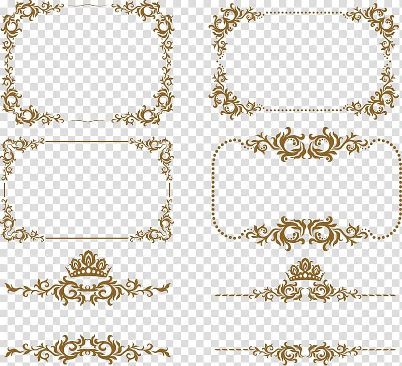 Ornament frame clipart clip freeuse Ornament frame , frame,Euporean ,European Border, brown floral ... clip freeuse