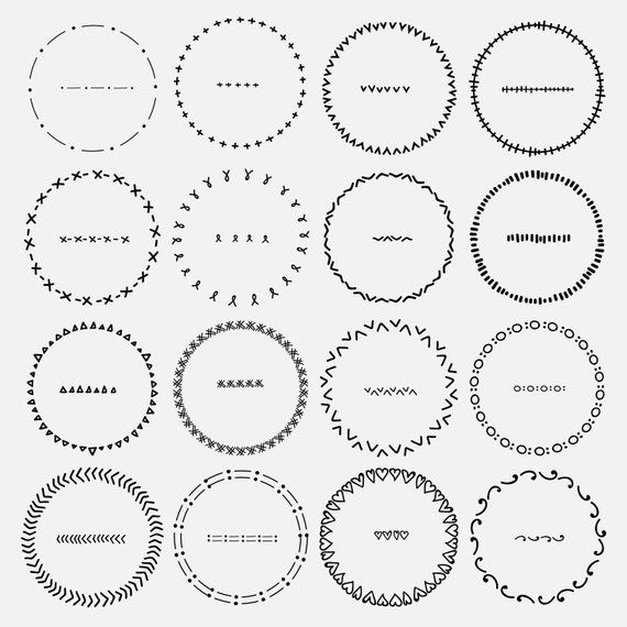 Ornament frame clipart black and white download Hand Drawn Round Frame Clipart, Dividers Round Frames Clipart ... black and white download