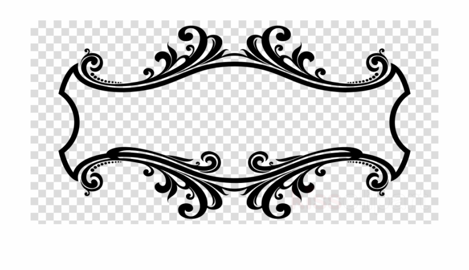 Ornamental clipart clipart black and white library Download Ornament Frame Png Clipart Decorative Arts - Line Art ... clipart black and white library