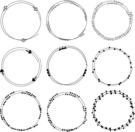 Round picture frame clipart clipart free Hand Drawn Heart Frame Clipart, Dividers Round Frames Clipart ... clipart free