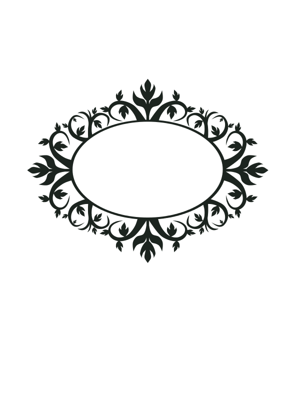 Ornament frame clipart jpg royalty free library Free clip art \