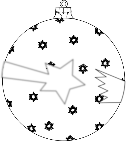 Ornament outline clipart star image free stock Shooting Star Ornament Outline Clip Art at Clker.com - vector clip ... image free stock