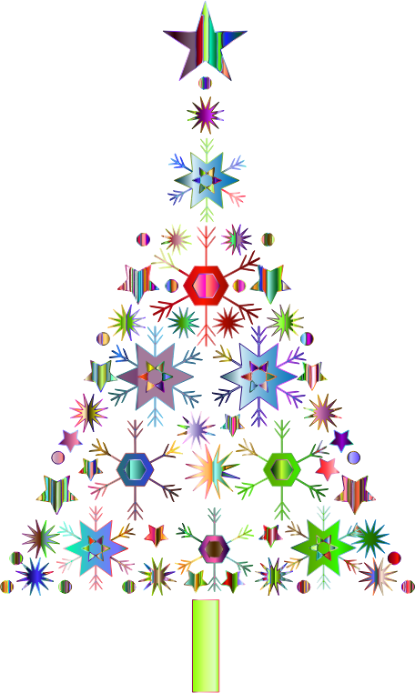 Ornament snowflake clipart svg library library Clipart - Abstract Snowflake Christmas Tree By Karen Arnold ... svg library library