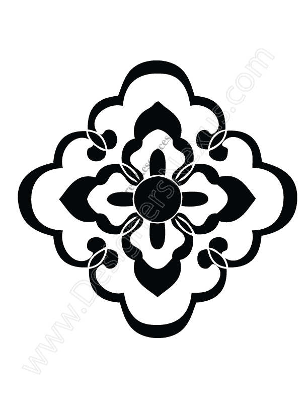 Ornament vector clipart vector black and white stock Free Vector Ornaments & Border Clip Art vector black and white stock