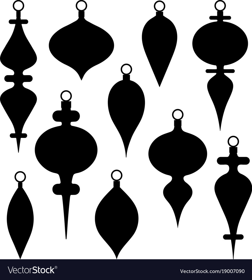 Ornament vector clipart clip art library stock Black silhouette christmas ornament clipart clip art library stock